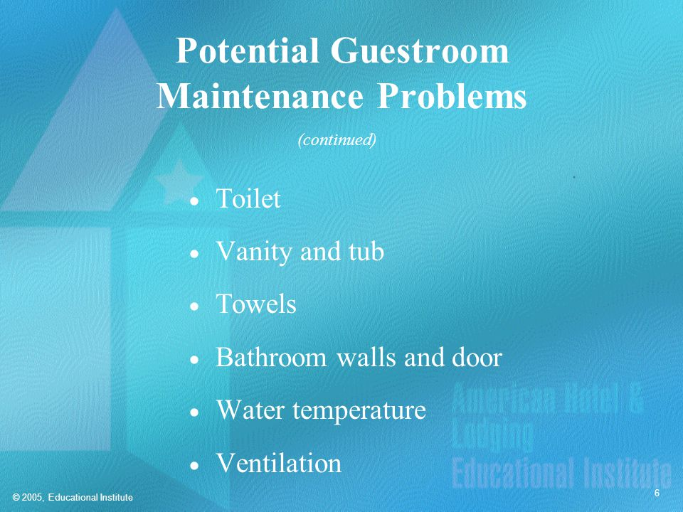 Types of Maintenance  General upkeep  Routine maintenance