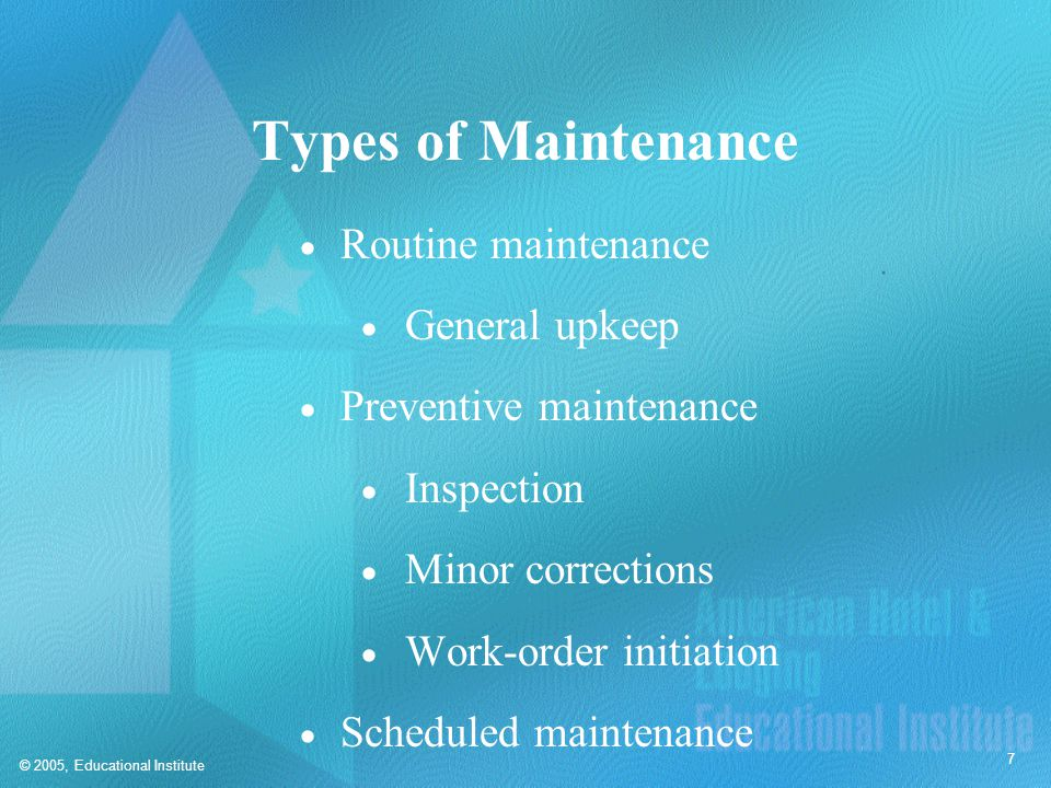 Maintenance Recordkeeping