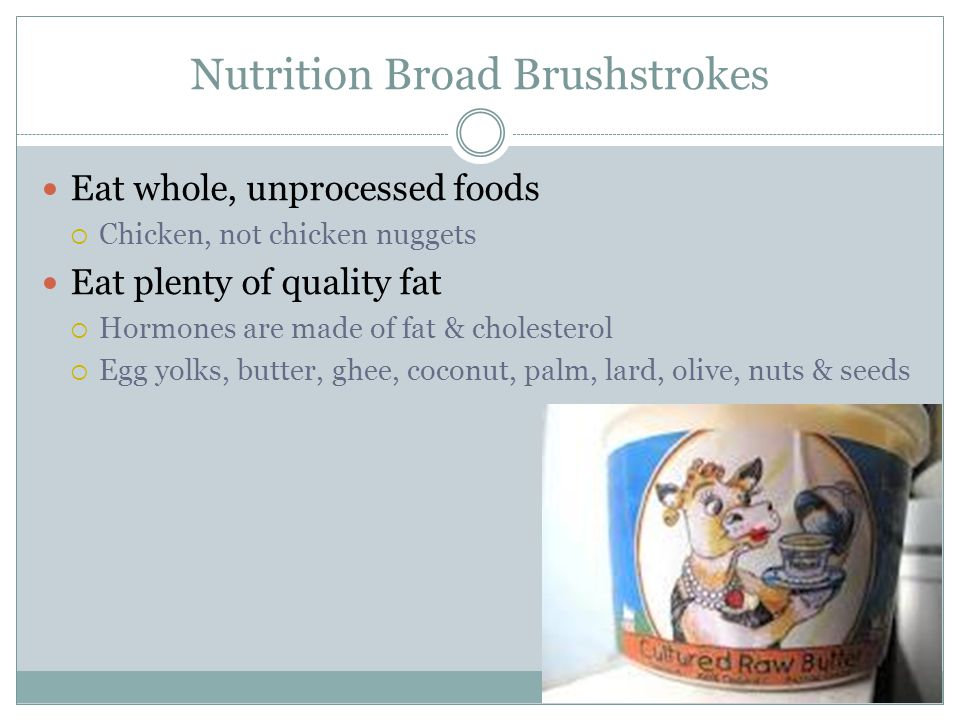 Nutrition Broad Brushstrokes