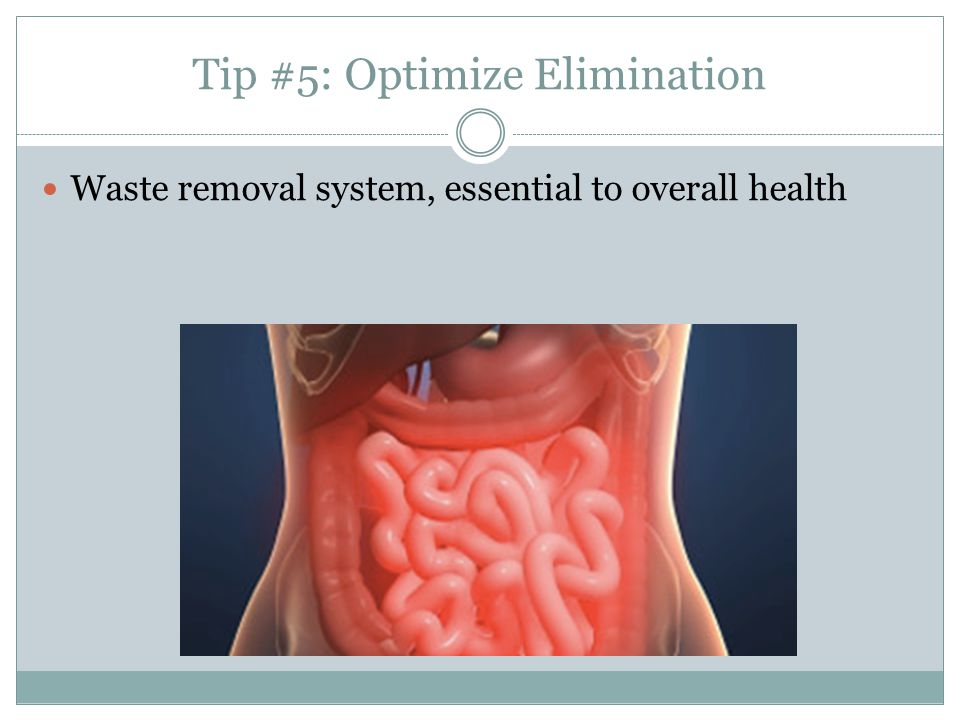 Tip #5: Optimize Elimination