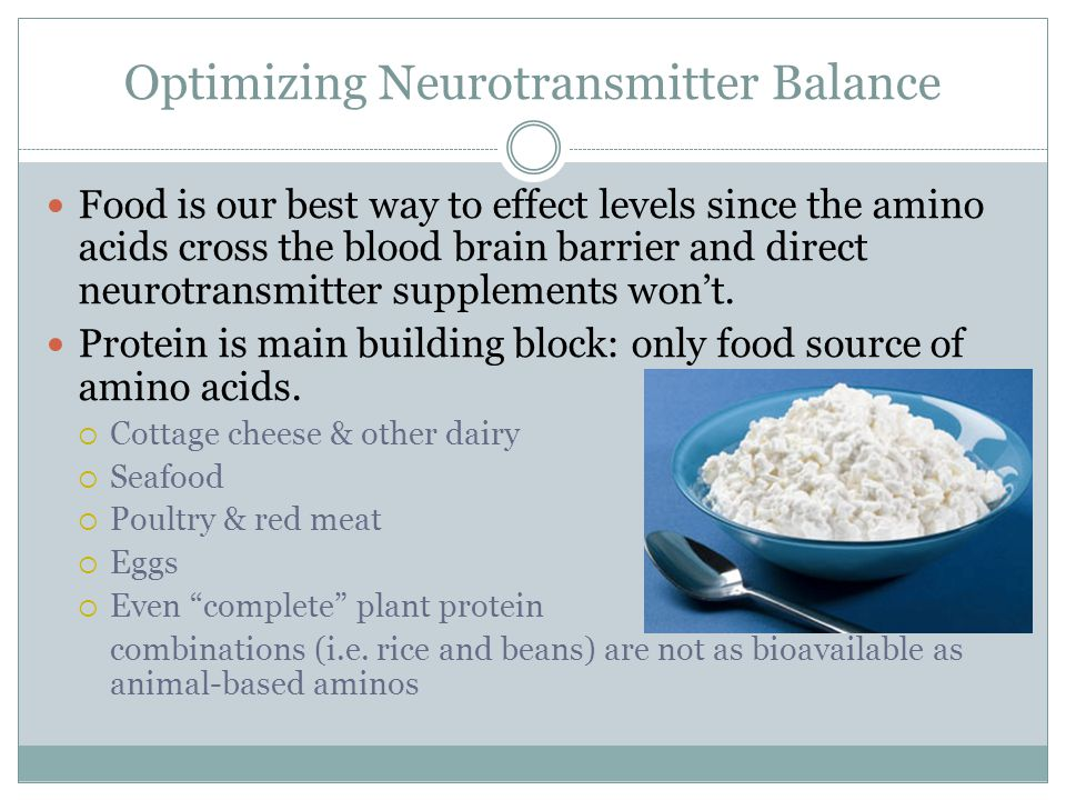 Optimizing Neurotransmitter Balance