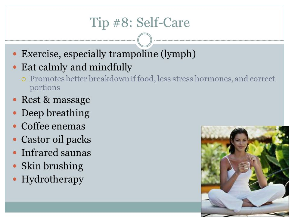 Tip #8: Self-Care Exercise, especially trampoline (lymph)