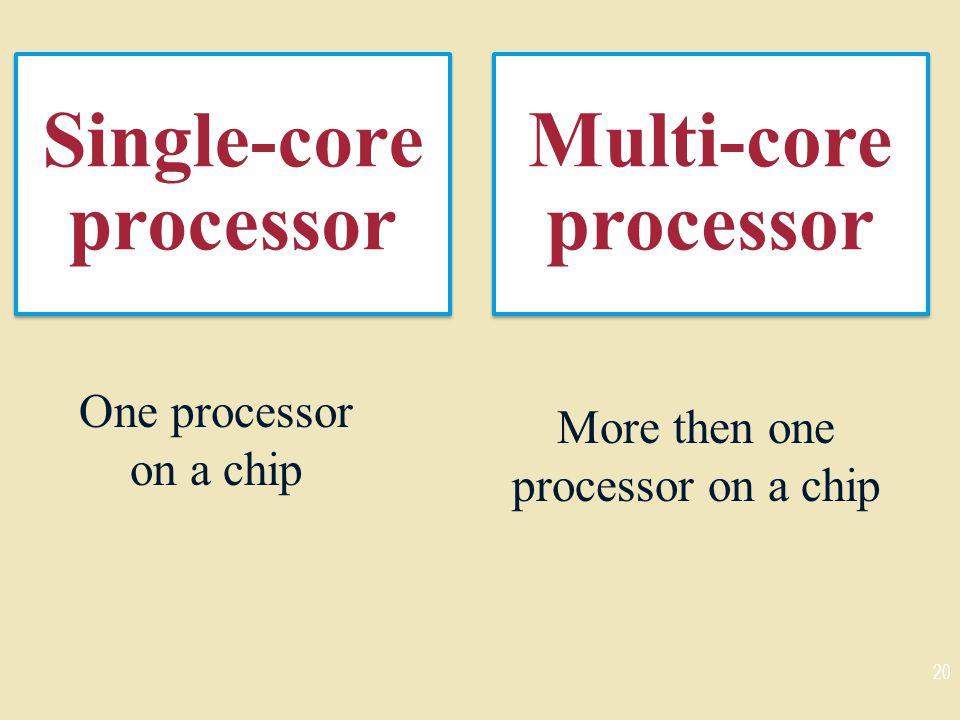 Single-core processor
