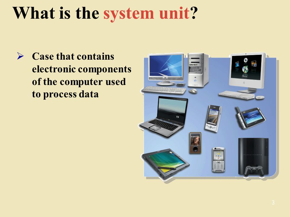 What is the system unit.