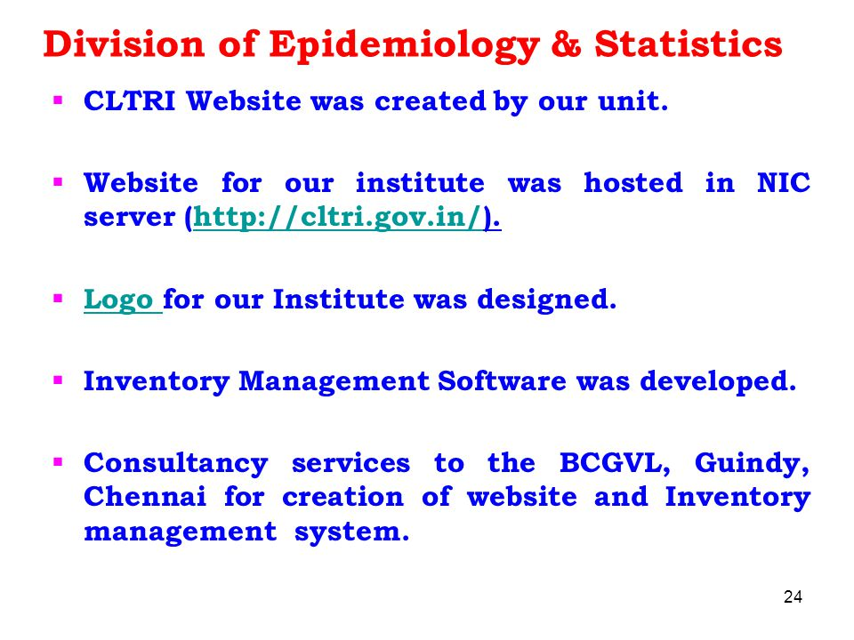 Division of Epidemiology & Statistics