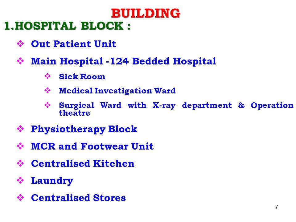 BUILDING 1.HOSPITAL BLOCK : Out Patient Unit