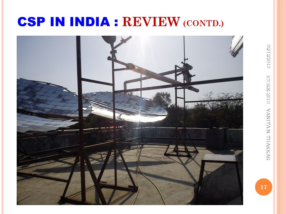 CSP IN INDIA : REVIEW (CONTD.)