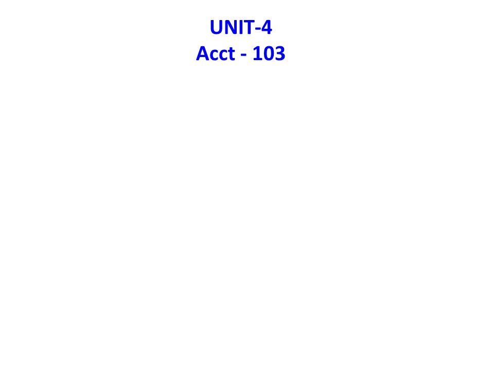 UNIT-4 Acct - 103