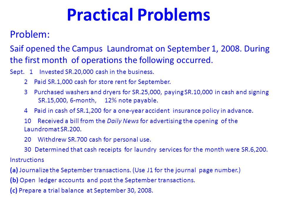 Practical Problems Problem: