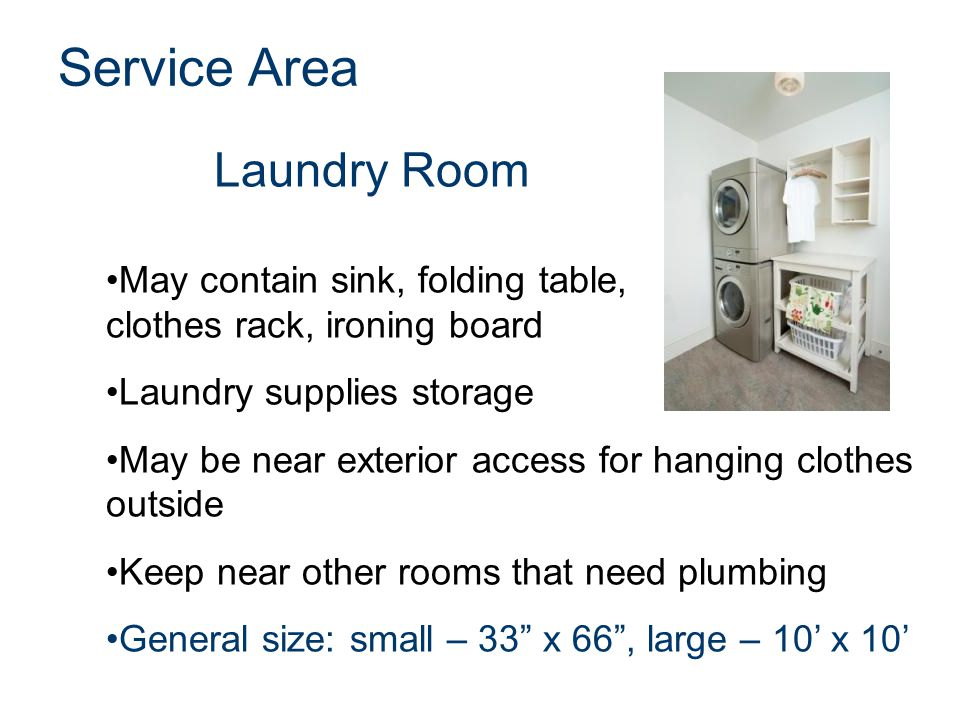 Service Area Laundry Room