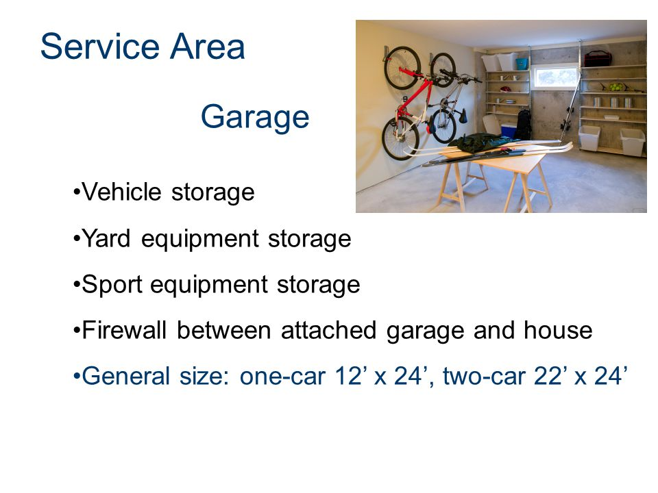 Service Area Garage Vehicle storage Yard equipment storage