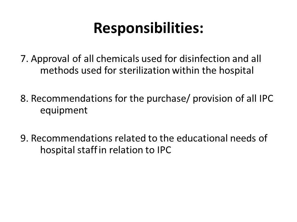 Responsibilities:
