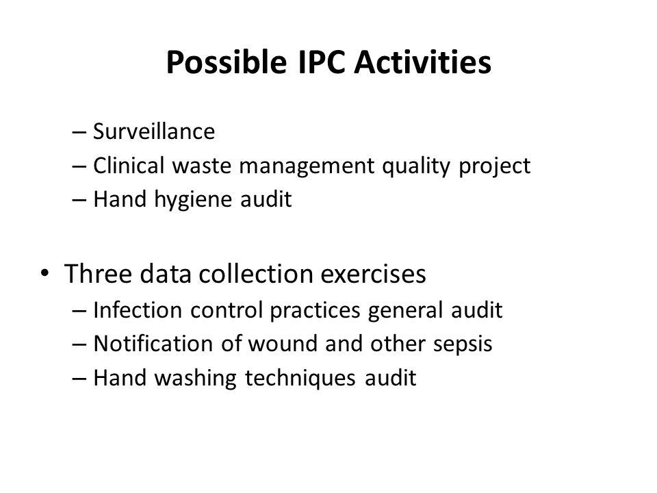 Possible IPC Activities