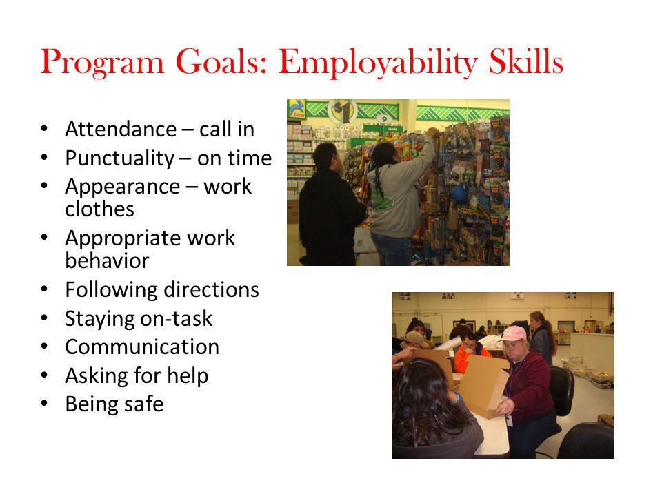 Program Goals: Employability Skills