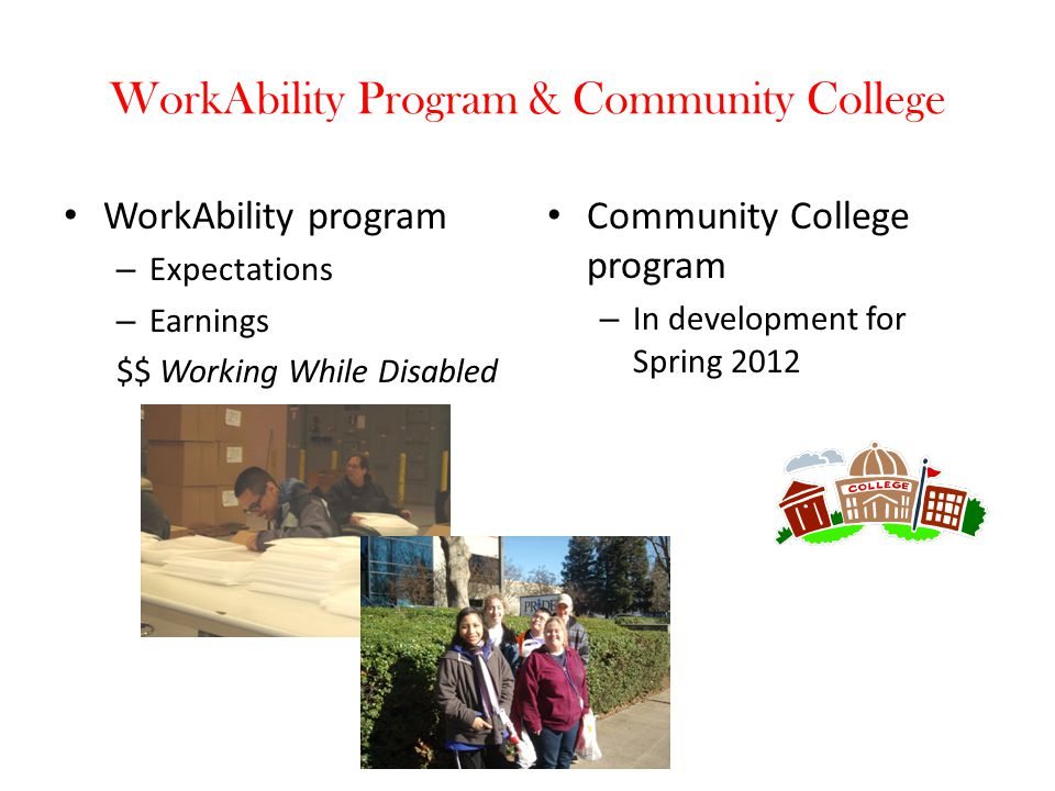 WorkAbility Program & Community College