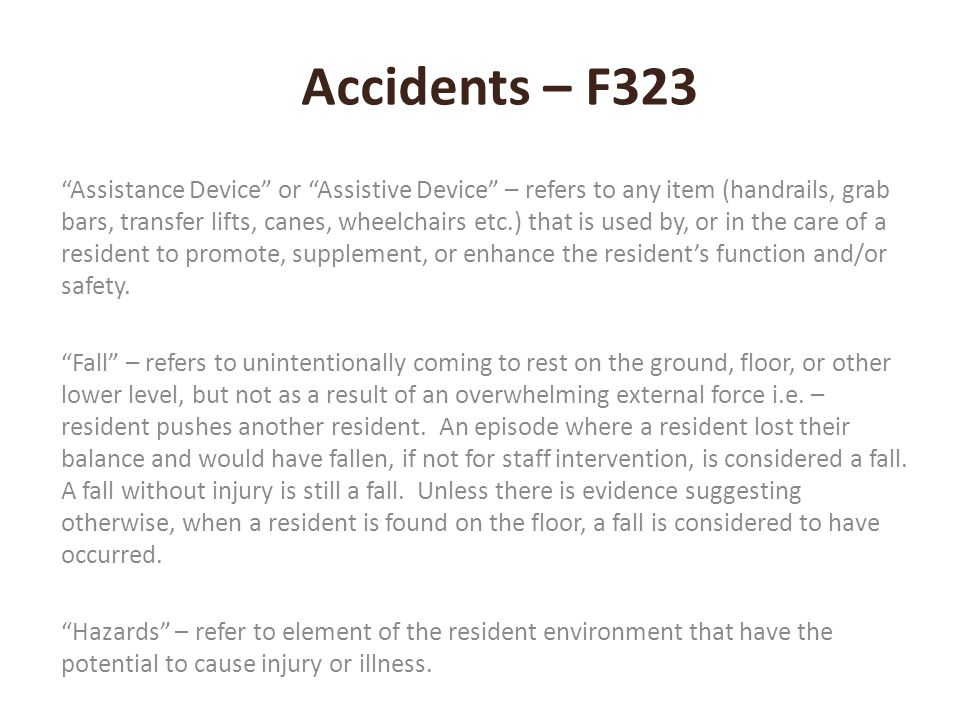 Accidents – F323
