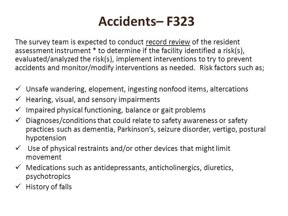 Accidents– F323