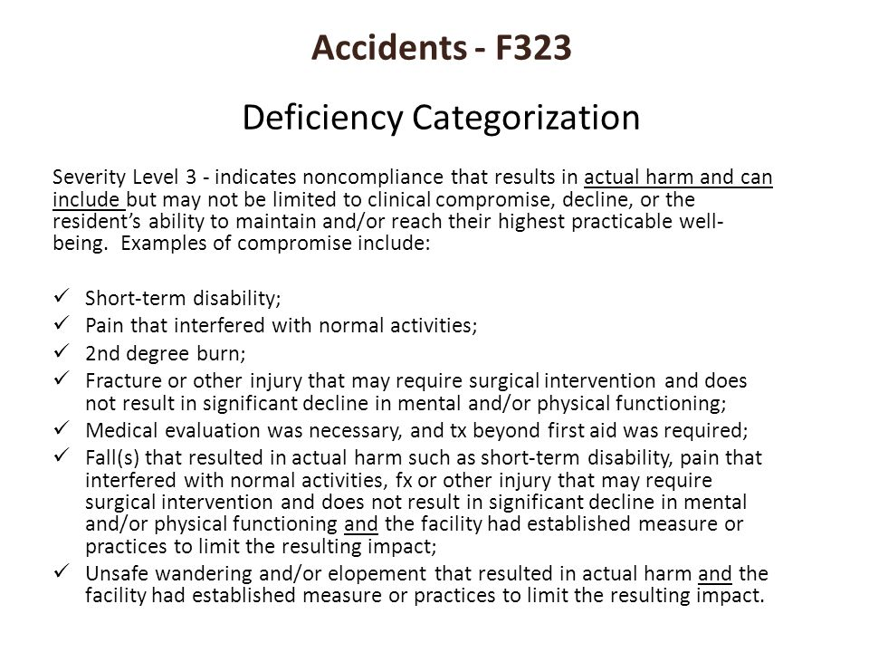 Accidents - F323 Deficiency Categorization