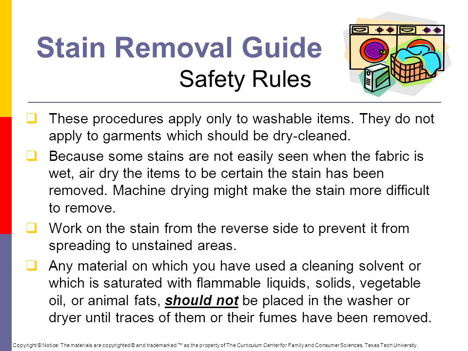 Stain Removal Guide Safety Rules