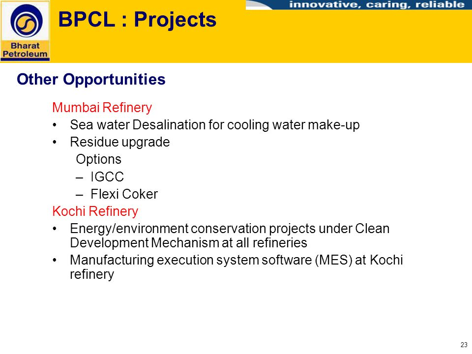 BPCL : Projects Other Opportunities Mumbai Refinery