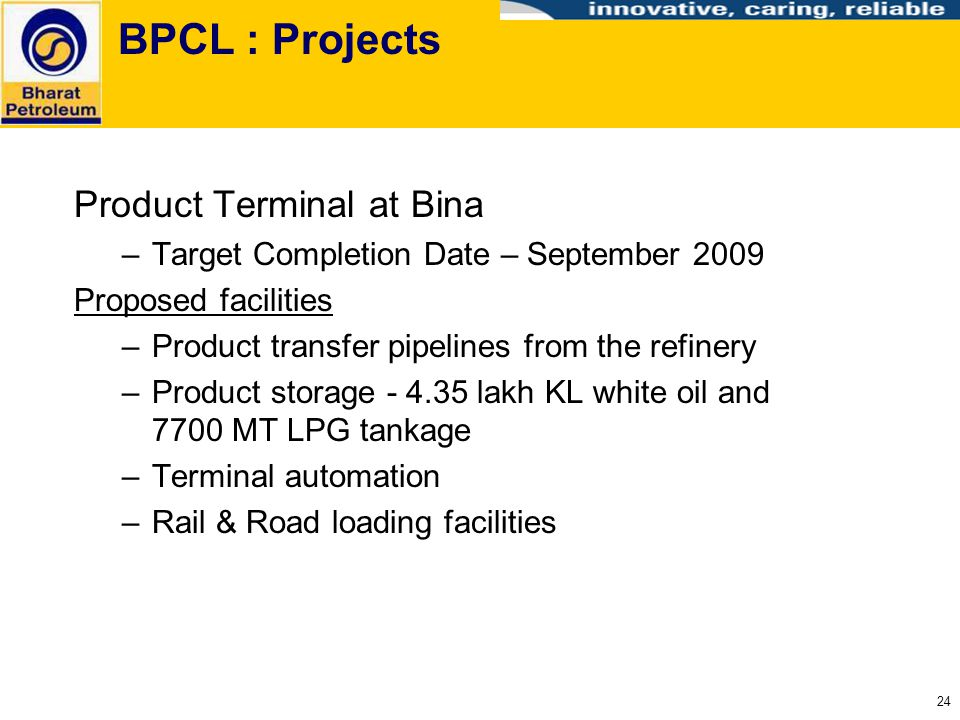 BPCL : Projects Product Terminal at Bina