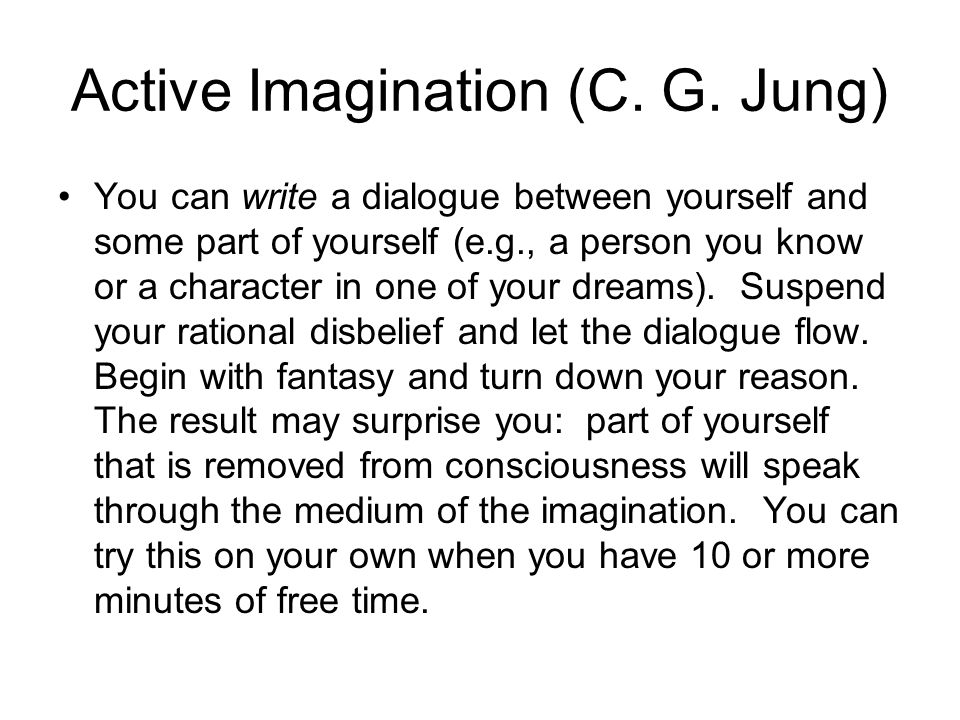 Active Imagination (C. G. Jung)