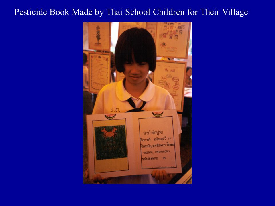 Pesticide Book Made by Thai School Children for Their Village