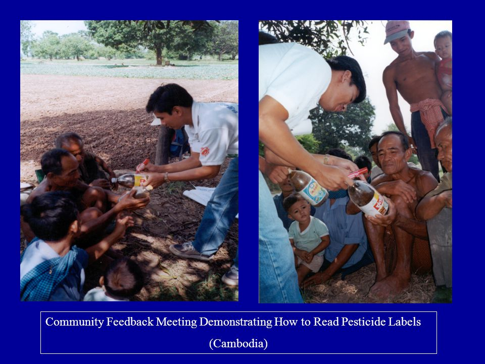 Community Feedback Meeting Demonstrating How to Read Pesticide Labels