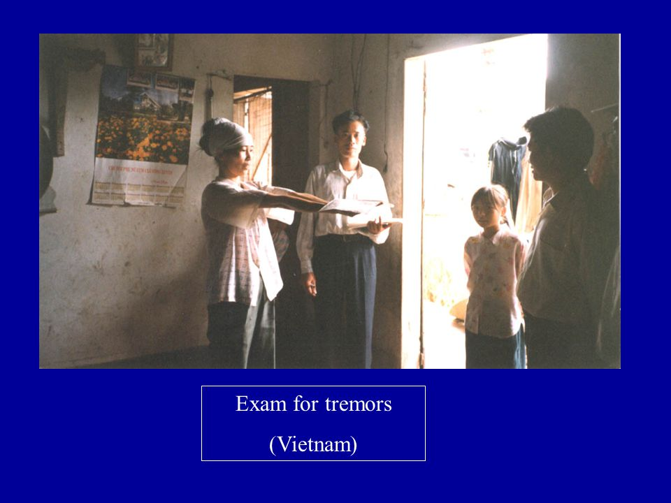Exam for tremors (Vietnam)
