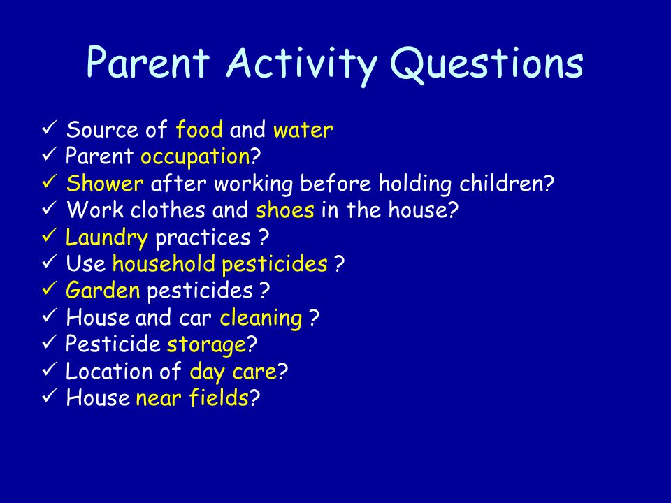 Parent Activity Questions