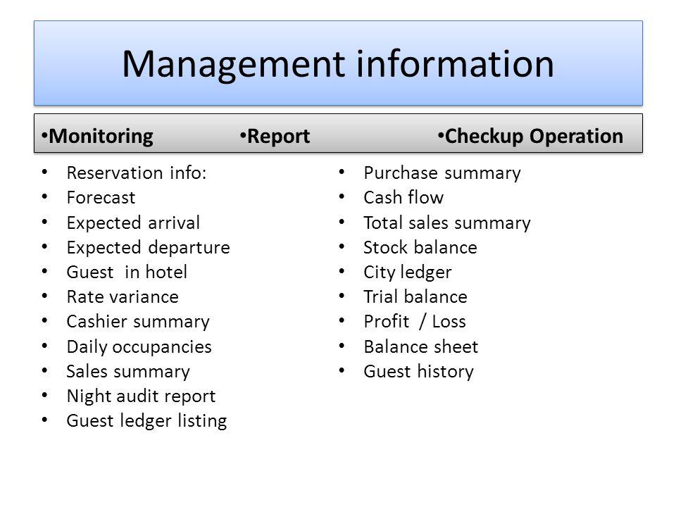 Management information