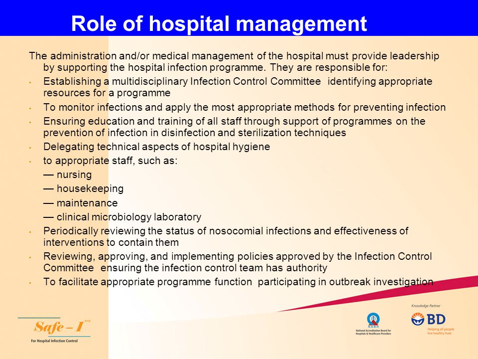 Role of hospital management