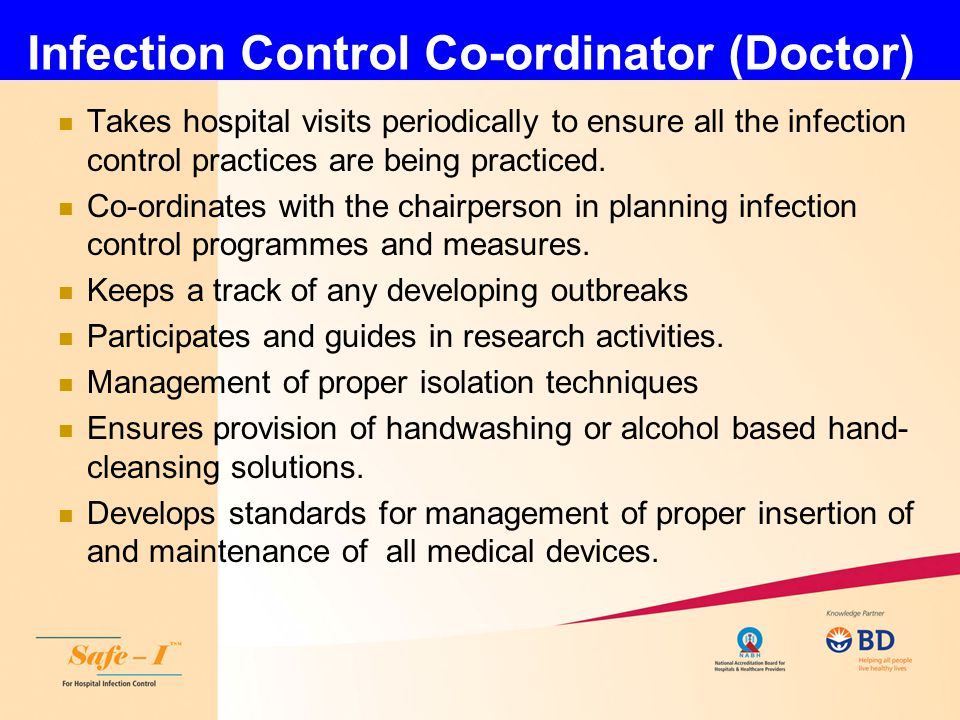 Infection Control Co-ordinator (Doctor)