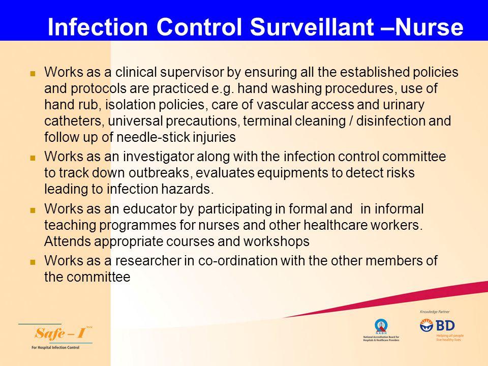 Infection Control Surveillant –Nurse