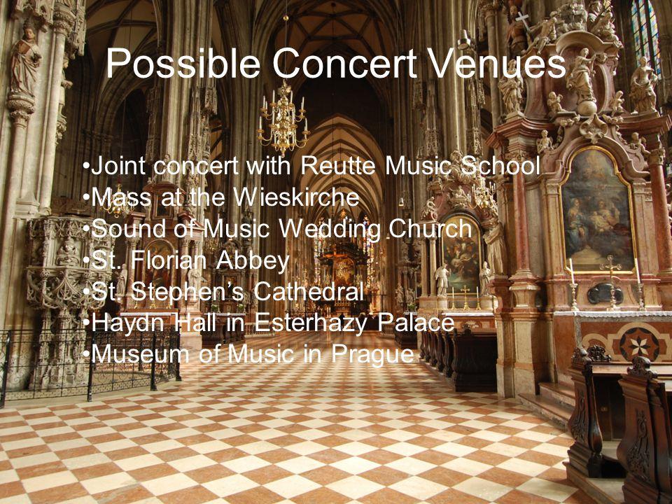 Possible Concert Venues