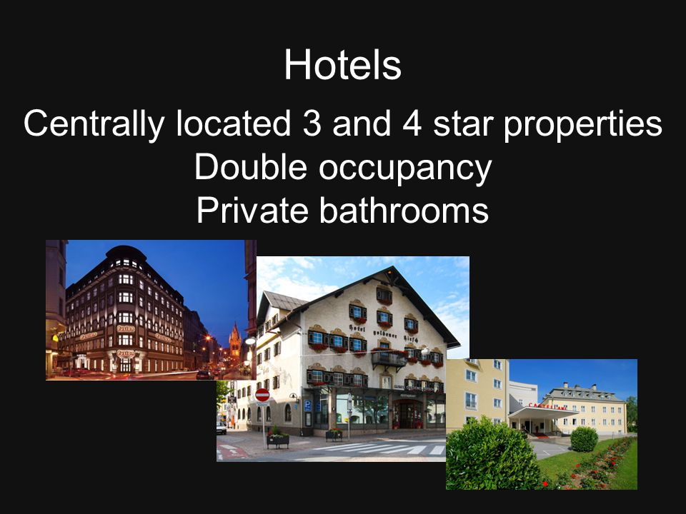 Centrally located 3 and 4 star properties