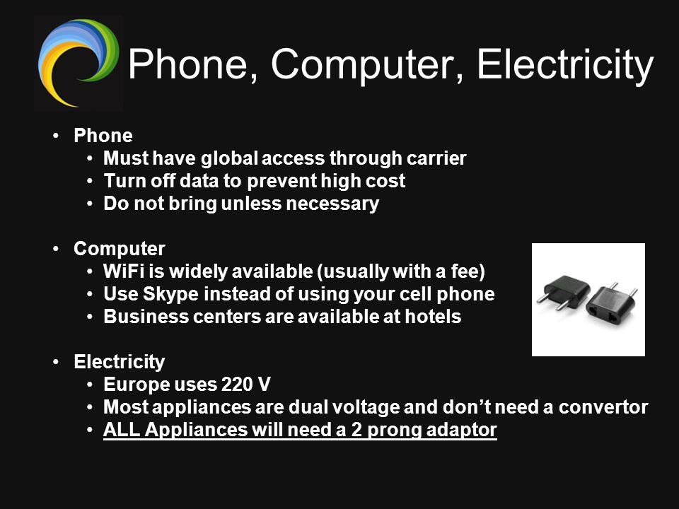 Phone, Computer, Electricity