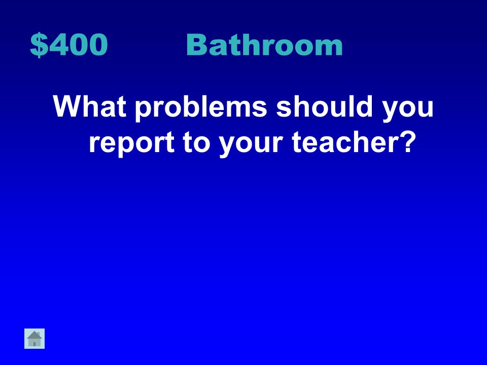 What problems should you report to your teacher