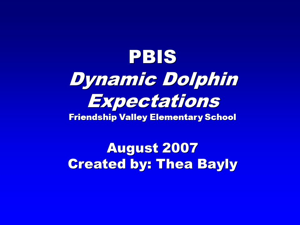 Dynamic Dolphin Expectations