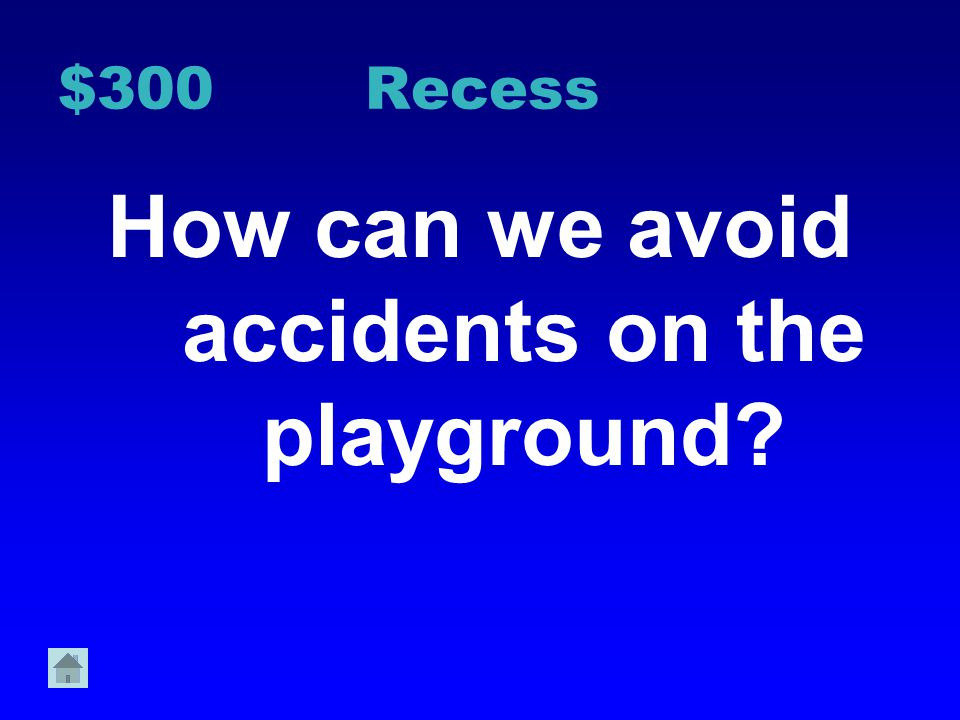 How can we avoid accidents on the playground