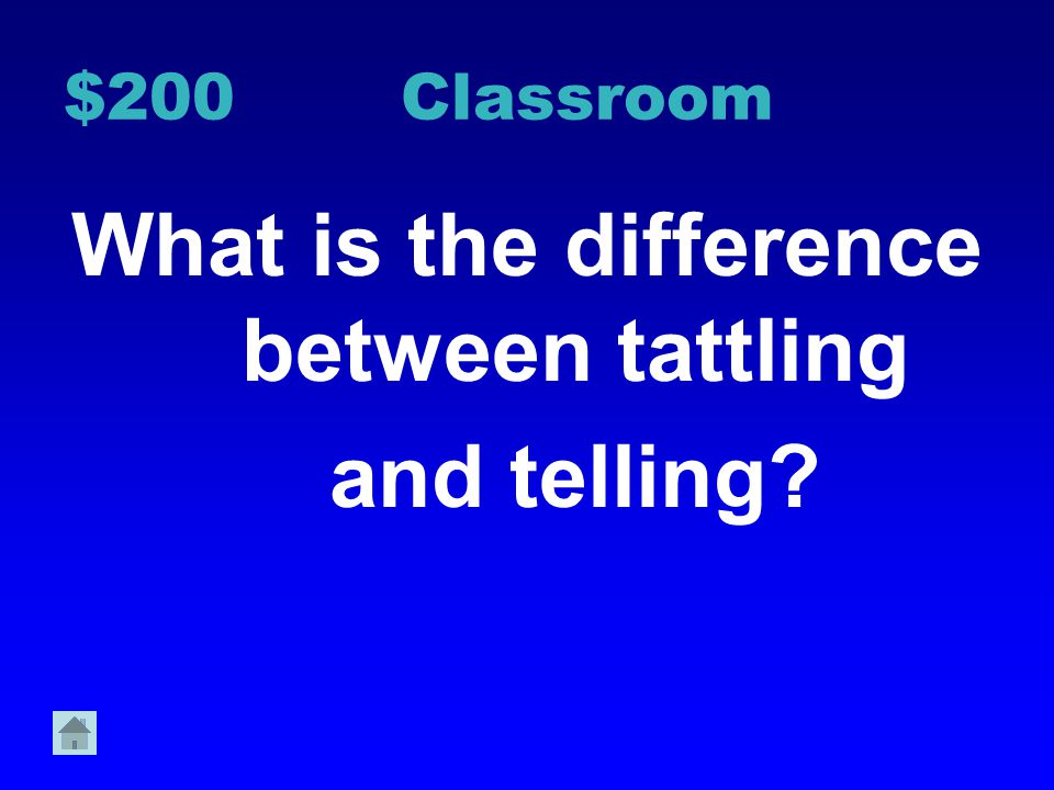 What is the difference between tattling and telling
