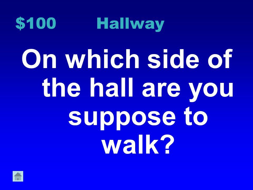 On which side of the hall are you suppose to walk