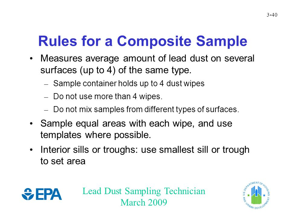 Rules for a Composite Sample