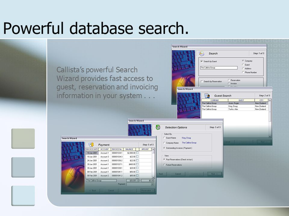 Powerful database search.