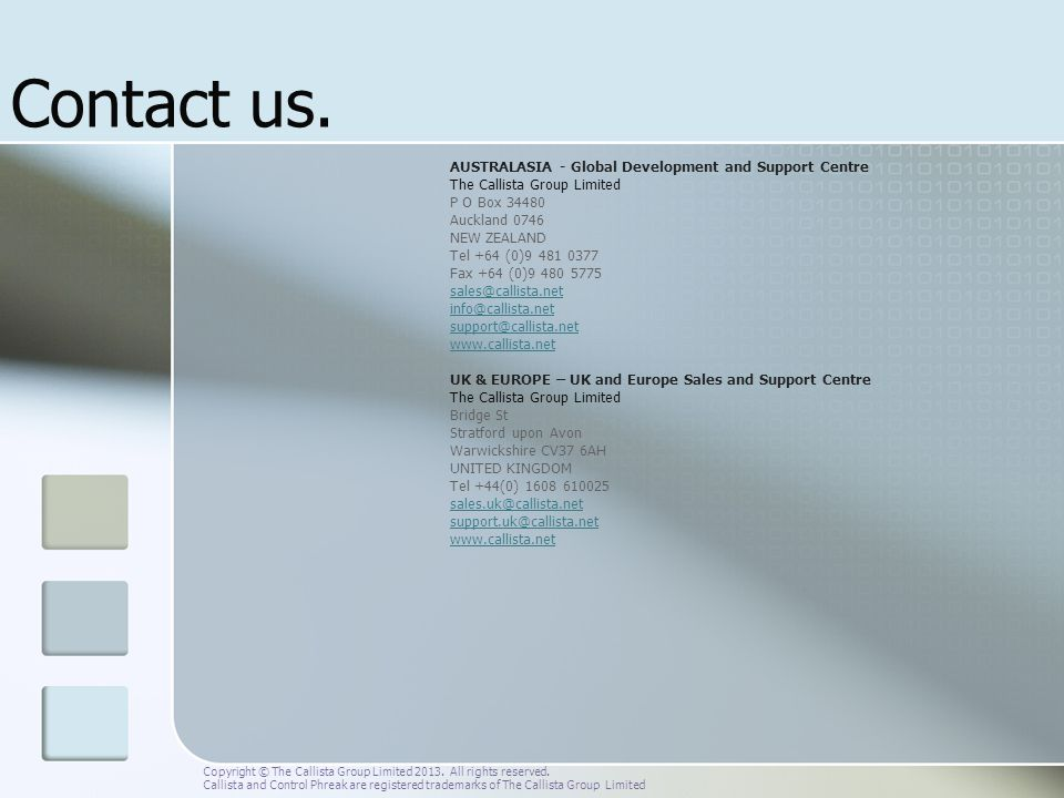 Contact us. AUSTRALASIA - Global Development and Support Centre