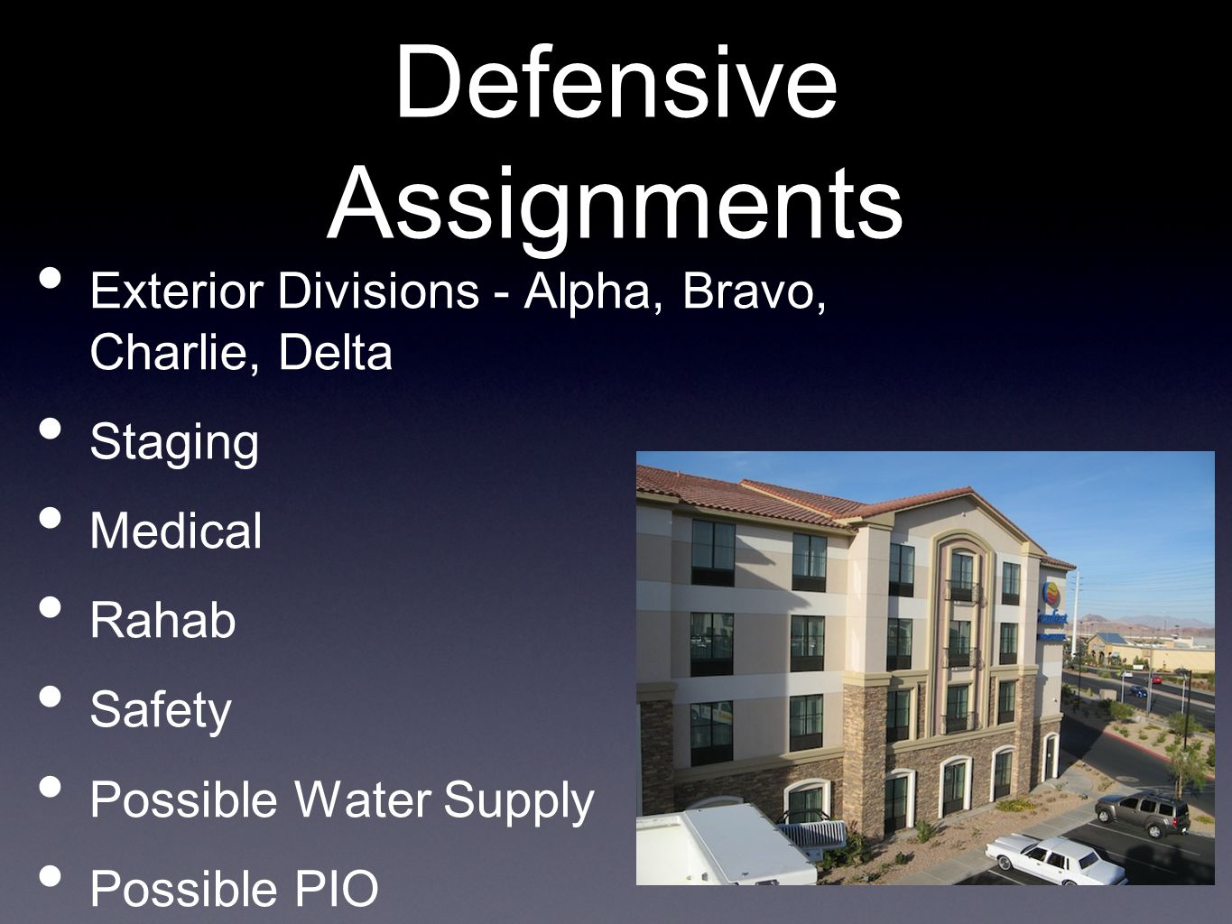 Defensive Assignments