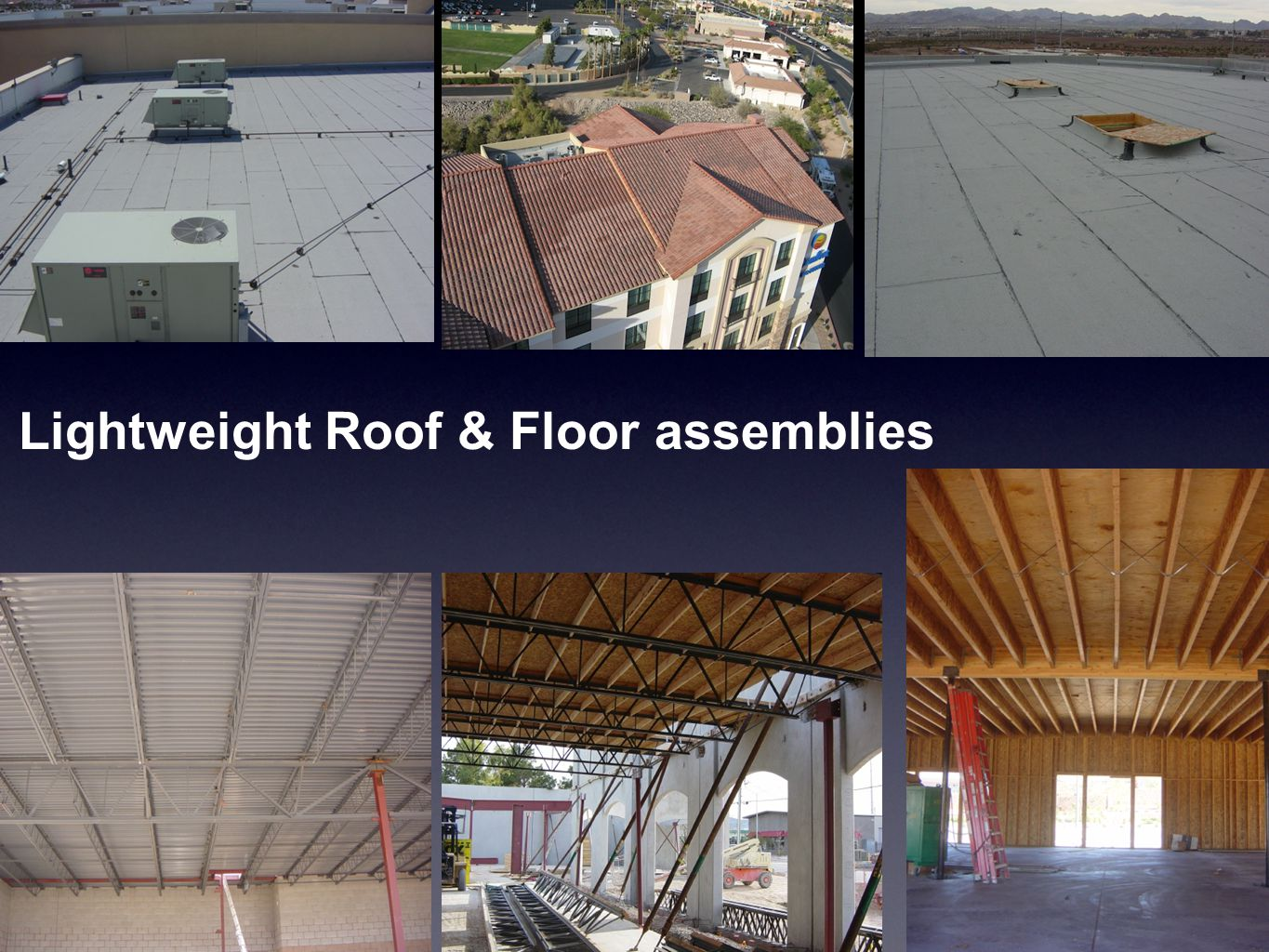 Lightweight Roof & Floor assemblies