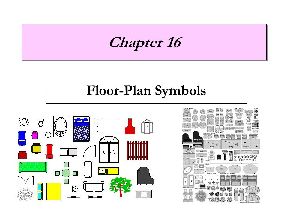 Chapter 7 understanding house plans floor plan symbols for Floor plan symbols