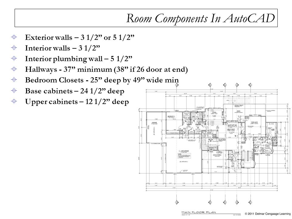 Room Components In AutoCAD