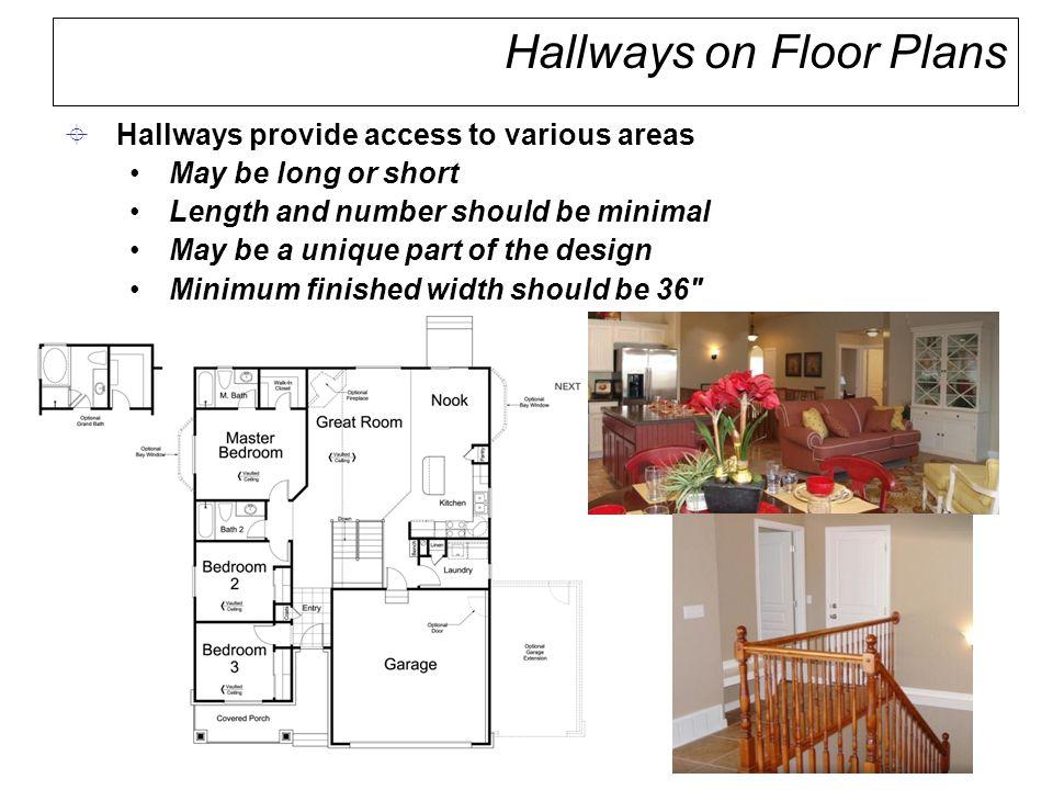 Hallways on Floor Plans